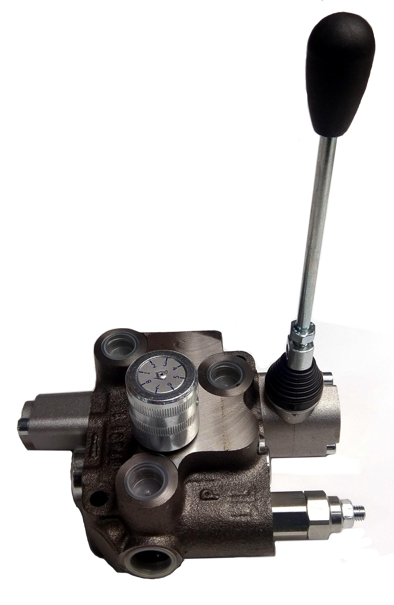 Blb monoblock valve motor spool 4way 3pos detented with for Hydraulic motor spool valve