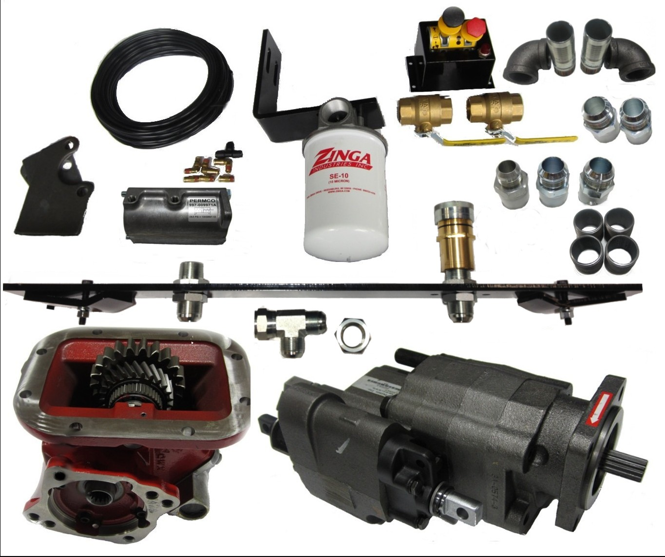 Combo Wet Kit For Dump Trailer Roll Off Pto Included Barnes Hydraulic Pump Wiring Diagram